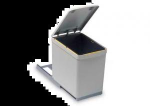 Gollinucci - Afvalemmer - 16 Liter - Grijs