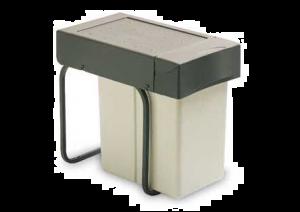 Gollinucci - Afvalemmer - 20 Liter - Grijs/Antraciet