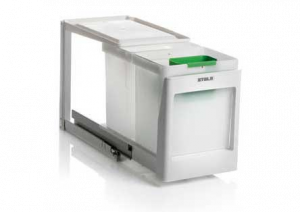 Stala - Eko 2K - Afvalemmer - 10+10 Liter - Wit