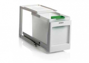 Stala - Eko 1K - Afvalemmer - 21 Liter - Wit