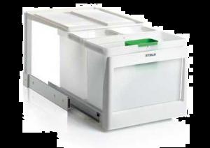 Stala - Eko 35K - Afvalemmer - 16+10+10 Liter - Wit