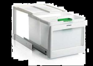 Stala - Eko 25K - Afvalemmer - 21+16 Liter - Wit