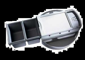 Hailo - Rondo - Afvalemmer - 18+18Liter - grijs