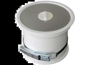 Prentout - afvalemmer werkblad - Wit/RVS - Ø 160 mm