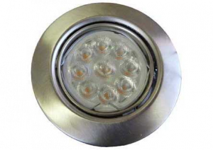 LED INBOUWSPOT RVS-LOOK LED 6W/230V 2700K 36⌀