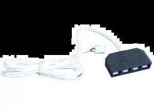 LED KABEL RGB 2.5M TRANSFO-STRIP 4X VERDELER
