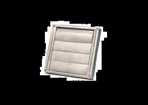 Buitenrooster - Lamellenrooster - Ø150mm - RVS