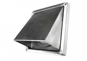 Buitenrooster - Kaprooster met klep - Ø125mm - RVS