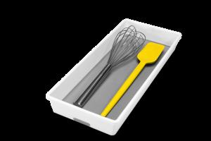 Madesmart - Bestekbak - 1 vak - 17cm - wit