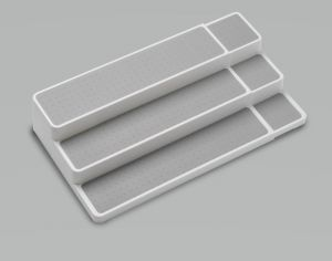 Madesmart - Uitschuifbare kast organizer - 3 etages - Antraciet