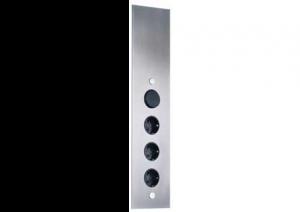 LES - Energiedoos - 4 stopcontacten - RVS - NL-D