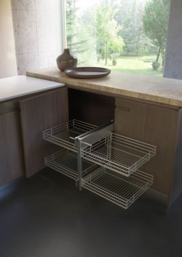 Rational Corner - Inbouwsysteem - Soft Close - 450 mm - Chroom - Rechts