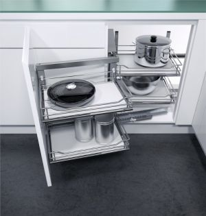 VS COR Fold - inbouwsysteem -  Soft-Close - 900 mm - Houten Bodem - Links