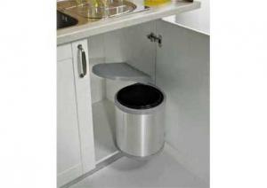 Gollinucci - Afvalemmer Rond- 13 Liter - Grijs/RVS