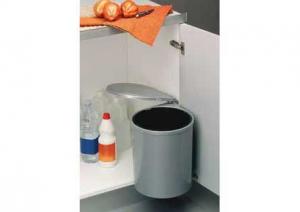 Gollinucci - Afvalemmer Rond- 13 Liter - Grijs
