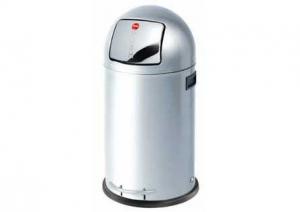 Hailo - Kickmaxx L - afvalemmer - 28 Liter - RVS