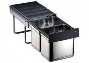 Wesco - Master 40DT - Afvalemmer - 16+16 Liter - RVS