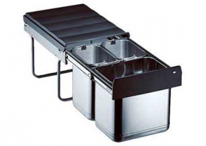 Wesco - Trio-Master 40DT - Afvalemmer - 16+8+8 Liter - RVS