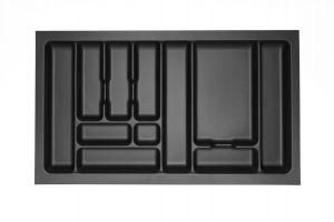 Storex Bestekbak - 84 cm breed x 49 cm diep - Carbon Black