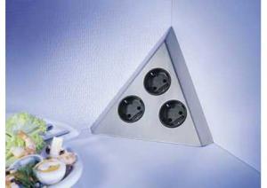 LES - Energiedoos - 3 stopcontacten - RVS - B-F