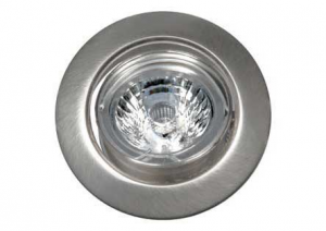 LED INBOUWSPOT RICHTBAAR RVS-LOOK REFLEX LED5 5W/230V 3000K 38⌀380LM
