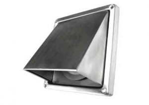 Kaprooster met terugslagklep - Ø100 mm - RVS - buitenrooster