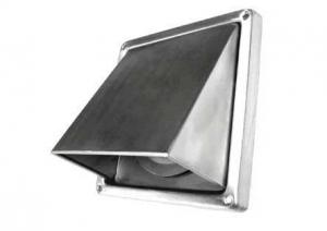 Kaprooster met terugslagklep - Ø150 mm - RVS - buitenrooster