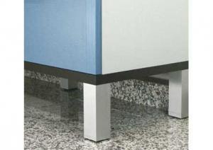 Capri - stelpoot - Aluminium  - 100mm - 1 stuk