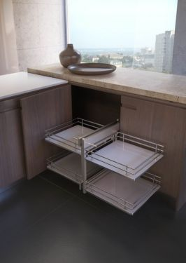 Rational Corner - Inbouwsysteem - Soft Close - 450mm - Houten Bodem - Rechts