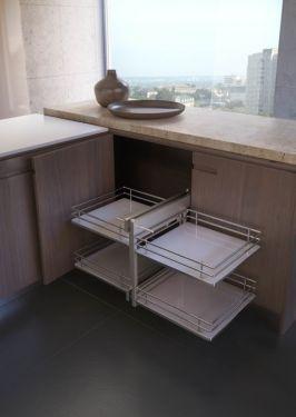 Rational Corner - Inbouwsysteem - Soft Close - 600mm - Houten Bodem - Rechts