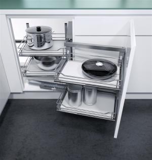 VS COR Fold - inbouwsysteem -  Soft-Close - 900 mm - Houten Bodem - Rechts