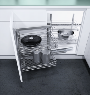 VS COR Fold - inbouwsysteem -  Soft-Close - 900 mm - Chroom - Links