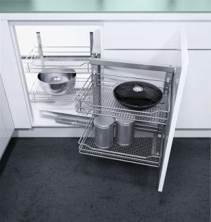 VS COR Fold - inbouwsysteem -  Soft-Close - 900 mm - Chroom - Rechts