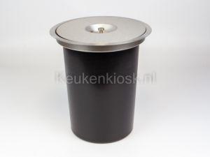 Wesco- Ergomaster - afvalemmer werkblad - RVS - 13 Liter - Ø 280 mm